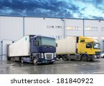 unloading cargo truck at