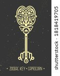 modern magic witchcraft card...   Shutterstock .eps vector #1818419705