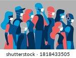 a group of men and women...   Shutterstock .eps vector #1818433505