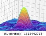 big data 3 dimensional graph....   Shutterstock .eps vector #1818442715