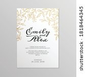 wedding invitation card with... | Shutterstock .eps vector #1818464345
