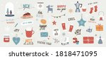 collection of christmas... | Shutterstock .eps vector #1818471095