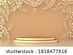 3d rendered studio with spring... | Shutterstock . vector #1818477818
