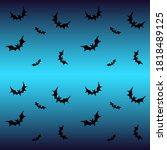 bats on a blue background  ... | Shutterstock .eps vector #1818489125