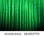 Green Sparkle Glitter Curtains...