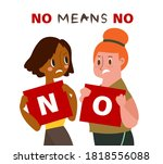 two women holding card with... | Shutterstock .eps vector #1818556088