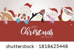 merry christmas and happy new... | Shutterstock .eps vector #1818625448