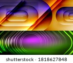 collection of stylish geometric ... | Shutterstock .eps vector #1818627848