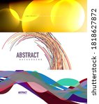 collection of stylish geometric ... | Shutterstock .eps vector #1818627872