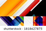 set of abstract backgrounds for ... | Shutterstock .eps vector #1818627875