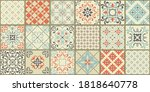 collection of 18 ceramic tiles... | Shutterstock .eps vector #1818640778