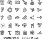 thin line gray tint vector icon ... | Shutterstock .eps vector #1818645068