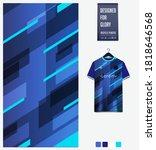 fabric pattern design. blue... | Shutterstock .eps vector #1818646568