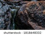 Close Up Of Pure Glacier Water...