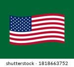 vector illustration of waving... | Shutterstock .eps vector #1818663752