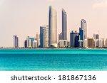 abu dhabi skyline  united arab...   Shutterstock . vector #181867136