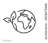 green earth planet concept ...   Shutterstock .eps vector #1818675608