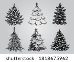 silhouetted christmas tree  to...   Shutterstock .eps vector #1818675962