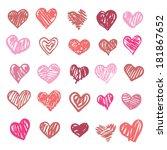 heart. set of design elements.... | Shutterstock .eps vector #181867652