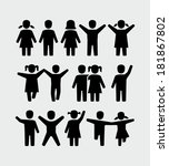kids  boy and girl icon.  | Shutterstock .eps vector #181867802