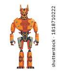 modern robot concept. robotics... | Shutterstock .eps vector #1818710222