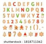 Gingerbread Alphabet. Merry...