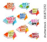 discount labels set | Shutterstock . vector #181871252
