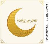 milad un nabi islamic festival... | Shutterstock .eps vector #1818738995