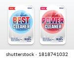 best power detergent cleaner... | Shutterstock .eps vector #1818741032