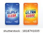 super clean detergent labels... | Shutterstock .eps vector #1818741035