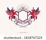 graphic vintage emblem composed ... | Shutterstock .eps vector #1818767225
