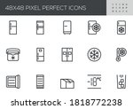 fridge vector line icons set....   Shutterstock .eps vector #1818772238