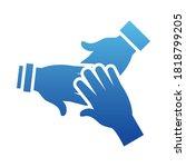 solidarity hands icon over... | Shutterstock .eps vector #1818799205
