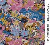 cute pattern in a small flower. ...   Shutterstock .eps vector #1818809192