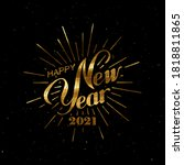 happy 2021 new year. holiday... | Shutterstock .eps vector #1818811865