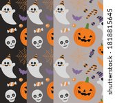 halloween night set background... | Shutterstock .eps vector #1818815645