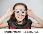 Young Girl Smiling While...