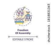 freedom of assembly concept... | Shutterstock .eps vector #1818831365