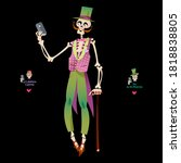 Skeleton Dressed In A Holiday...