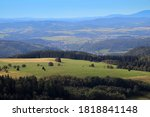 Field Of Hay Bales In The...