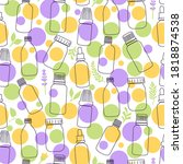 essential oil seamless pattern... | Shutterstock .eps vector #1818874538