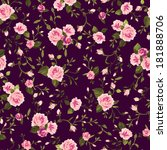 seamless floral pattern with of ... | Shutterstock .eps vector #181888706