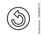 arrow refresh icon. simple line ...