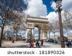 paris   july 20 those traveling ... | Shutterstock . vector #181890326
