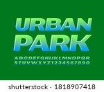 vector green emblem urban park. ...   Shutterstock .eps vector #1818907418