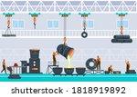 metallurgy industry concept... | Shutterstock .eps vector #1818919892