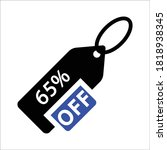 65 percent offer. discount... | Shutterstock .eps vector #1818938345