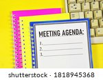 Meeting Agenda   A Text Label...