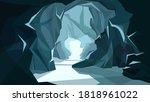 beautiful underground landscape....   Shutterstock .eps vector #1818961022