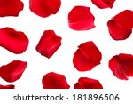 beautiful red rose petals ... | Shutterstock . vector #181896506